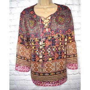 Ruby Rd. Boho blouse
